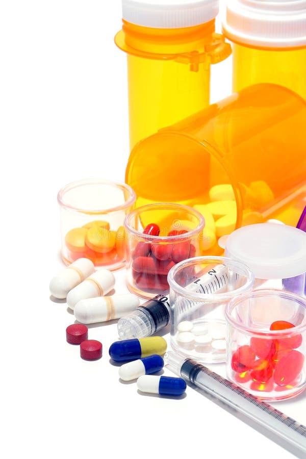 Comprimidos da prescrição e medicamentação farmacêutica imagens de stock royalty free