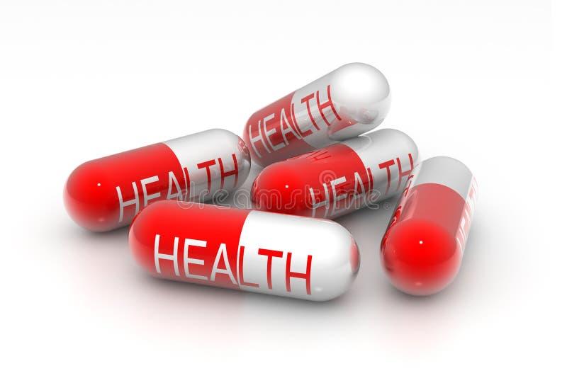 Comprimidos da saúde ilustração royalty free