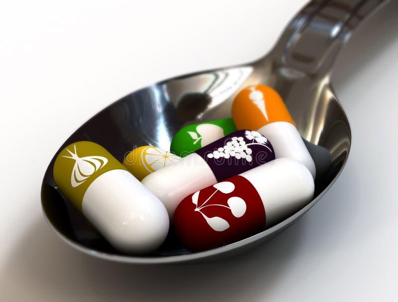 Comprimidos da vitamina fotografia de stock royalty free