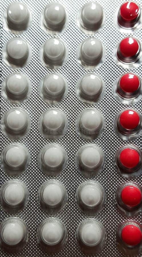 Comprimidos de Anticonceptive macro fotos de stock royalty free