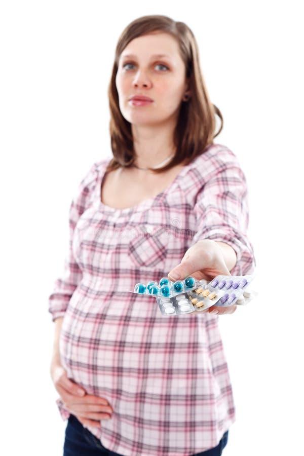 Comprimidos durante a gravidez foto de stock royalty free