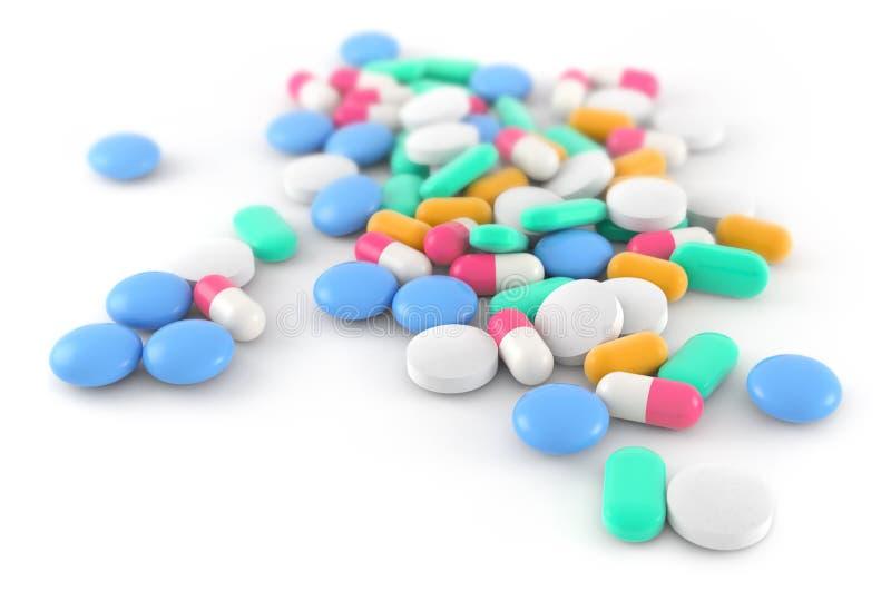 Comprimidos e cápsulas ilustração do vetor