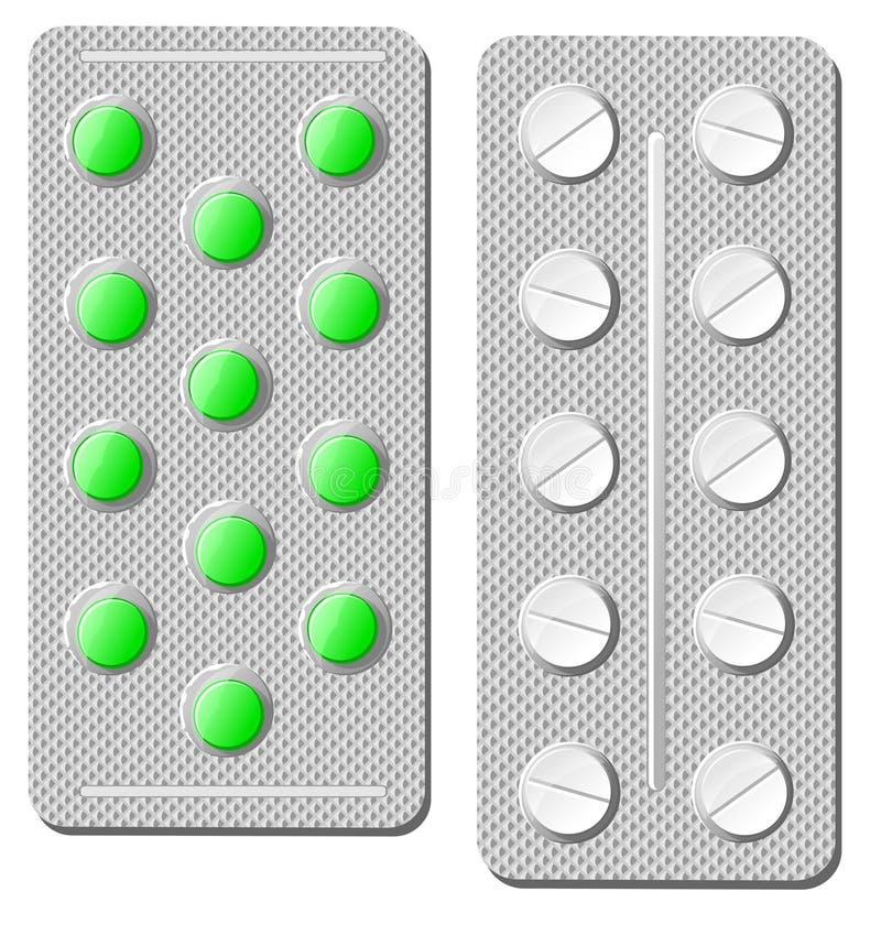 Comprimidos e drogas ilustração stock