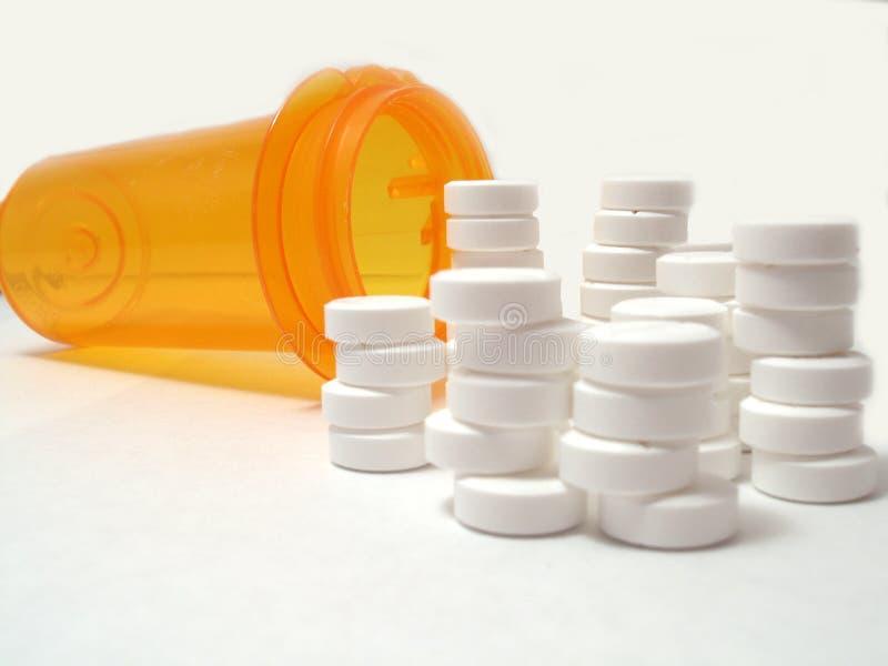 Comprimidos Empilhados Fotografia de Stock