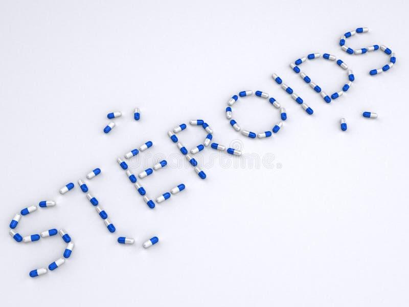Comprimidos: esteróides ilustração do vetor