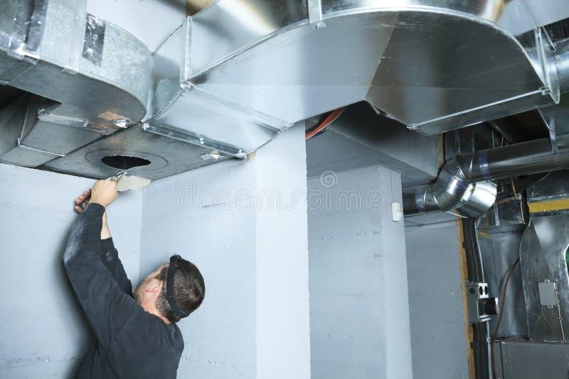 Comprobación para del limpiador de la ventilación polvo en él foto de archivo libre de regalías