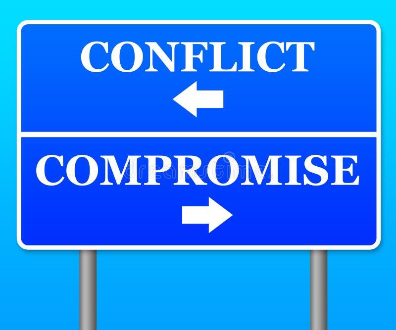 Compromis de conflit illustration stock