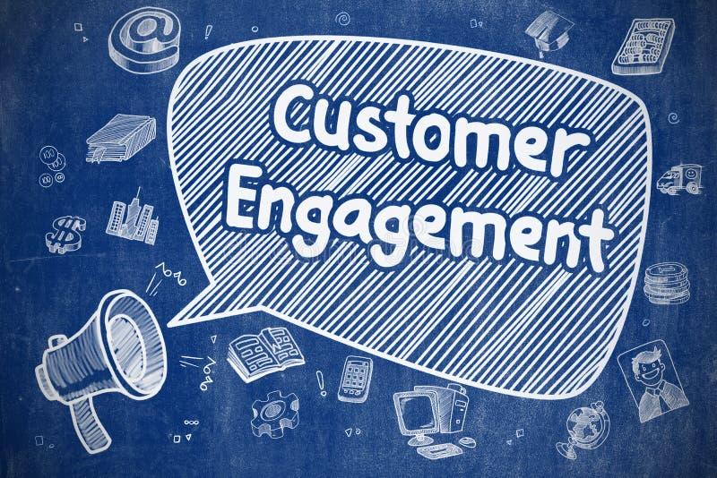 Compromiso del cliente - concepto del negocio ilustración del vector