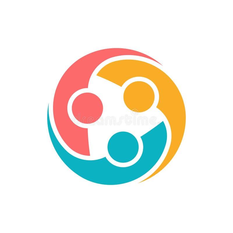 Compromiso del grupo de la gente y ejemplo unido ilustración del vector