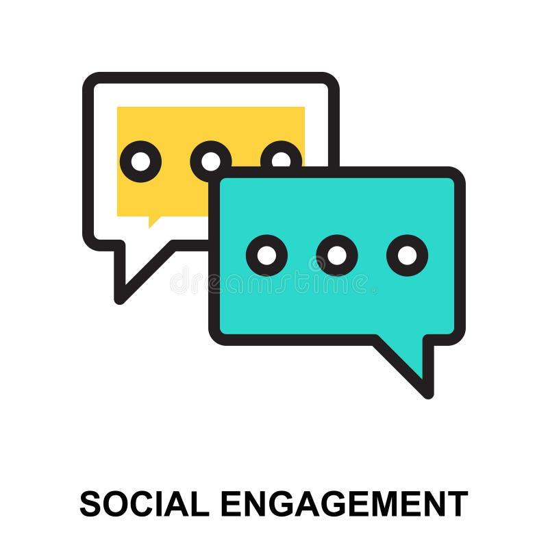 Compromiso social stock de ilustración
