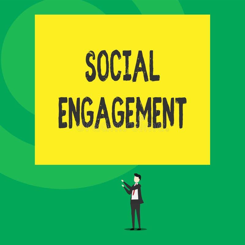 Compromiso social del texto de la escritura de la palabra Concepto del negocio para el grado de compromiso en una comunidad en l? stock de ilustración