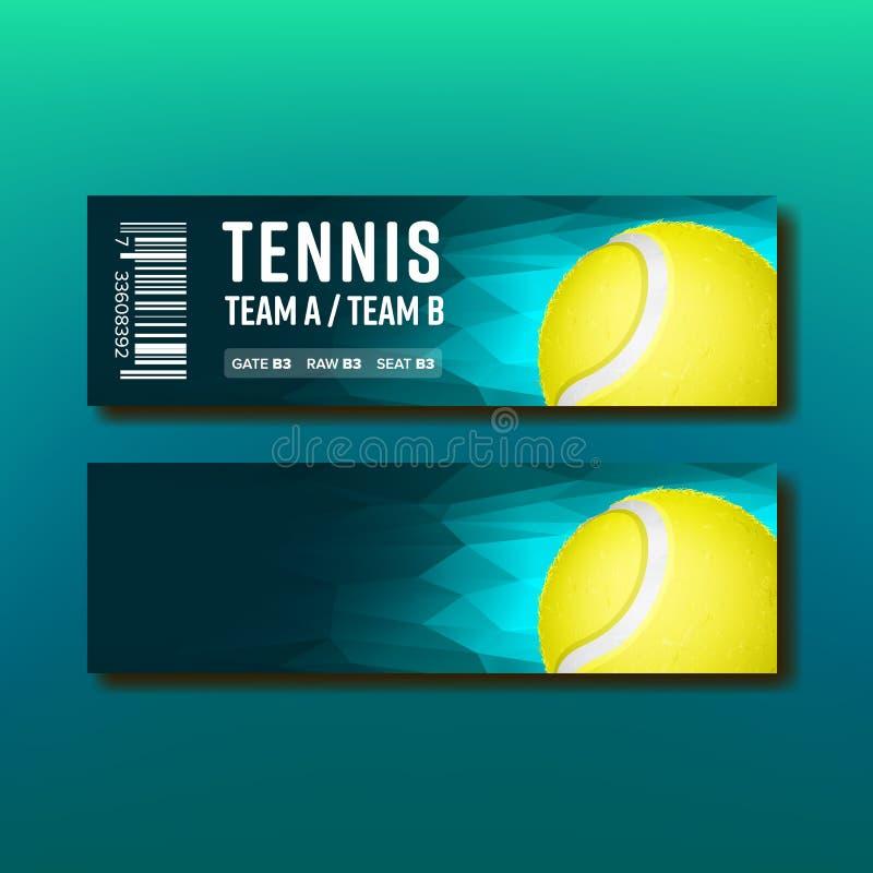 Comprovante brilhante para o vetor anual do competiam do tênis ilustração royalty free