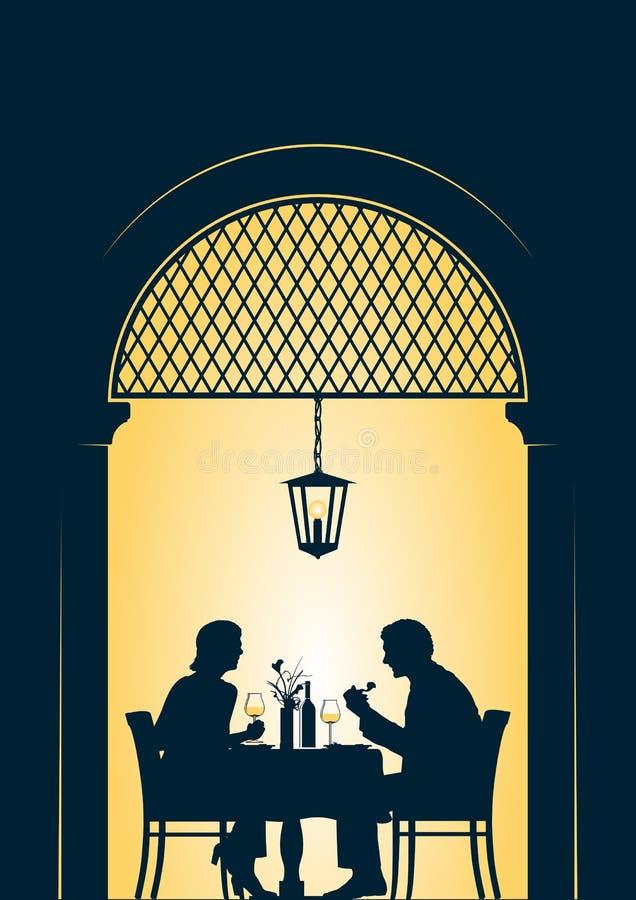 Comprovante do restaurante ilustração do vetor