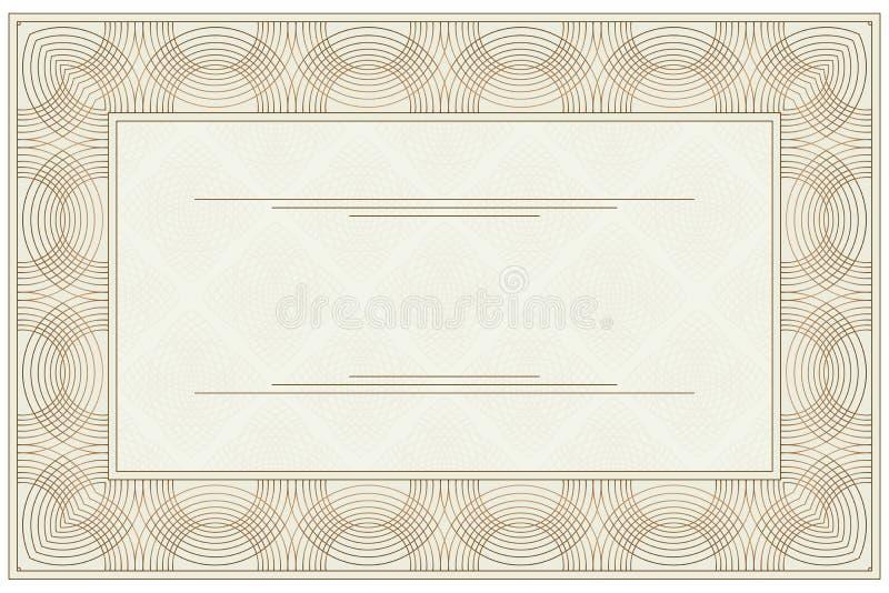 Comprovante vazio ilustração stock