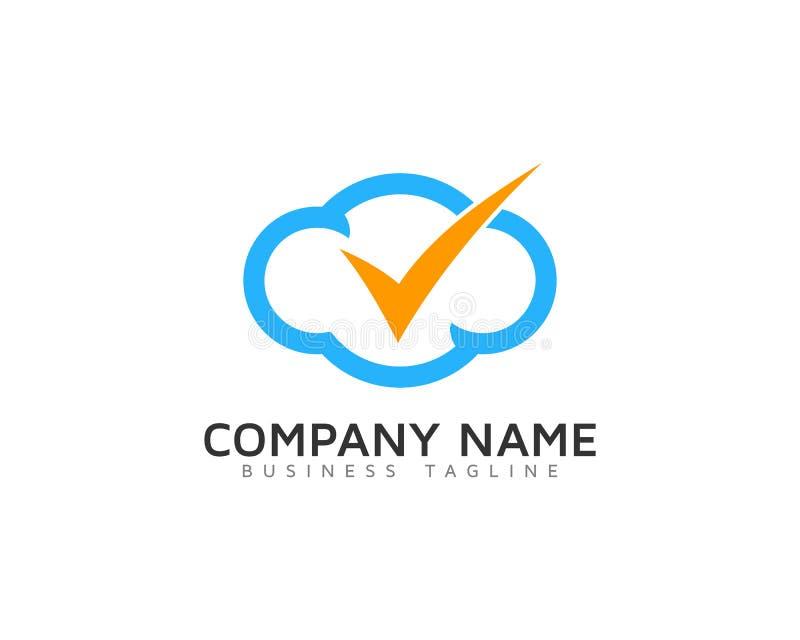 Compruebe el icono Logo Design Element de la nube libre illustration