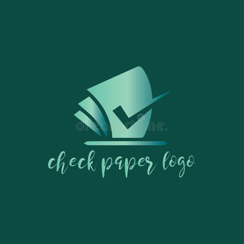 Compruebe el logotipo de papel ilustración del vector