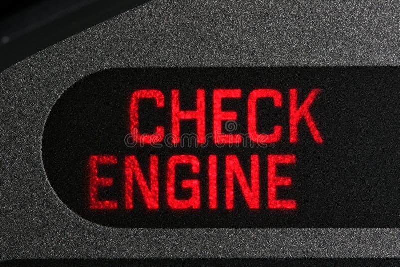 Compruebe el piloto del motor imagen de archivo libre de regalías