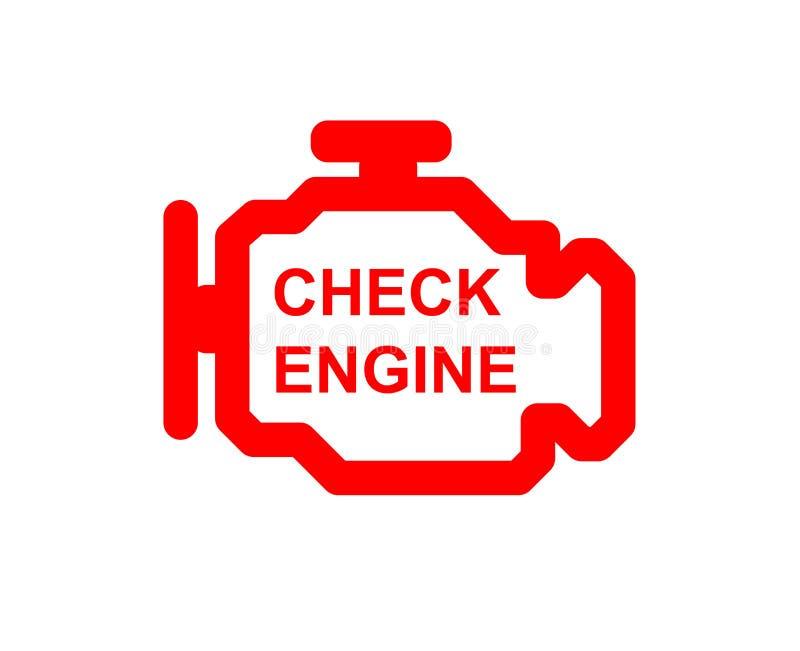 Compruebe el símbolo del coche del motor ilustración del vector