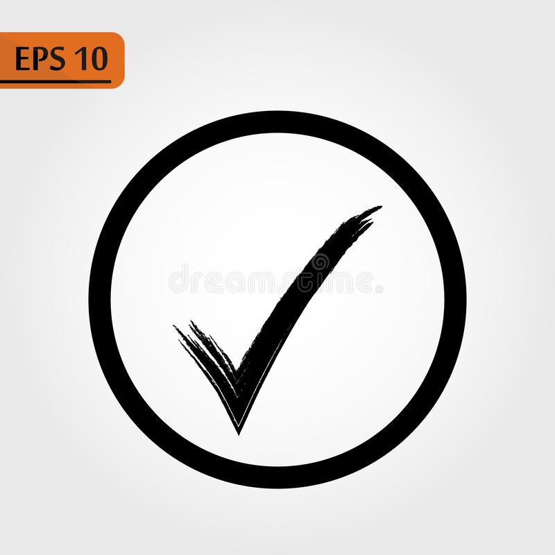 Compruebe el vector del icono Ejemplo negro perfecto del pictograma en el fondo blanco - El fichero del vector libre illustration