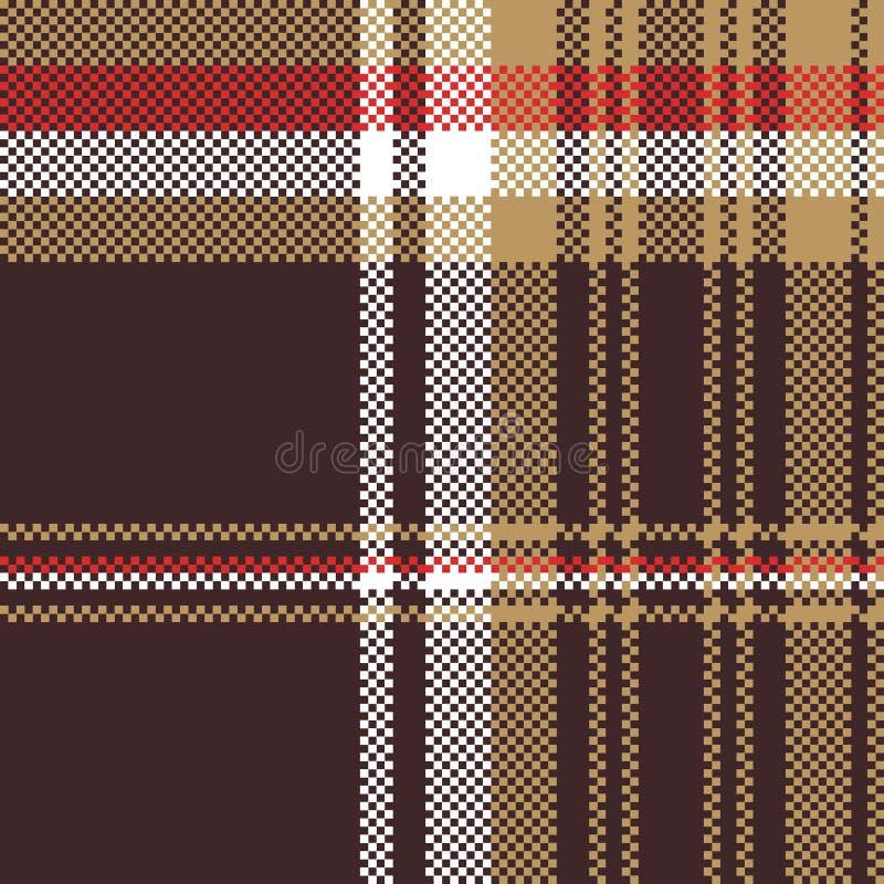 Compruebe la textura inconsútil de la tela del tartán marrón libre illustration