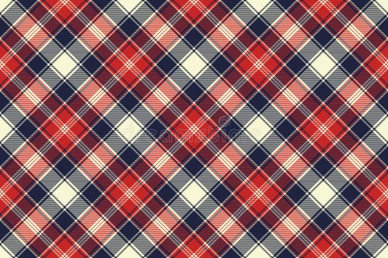 Compruebe las líneas modelo inconsútil de la diagonal de la textura de la tela libre illustration