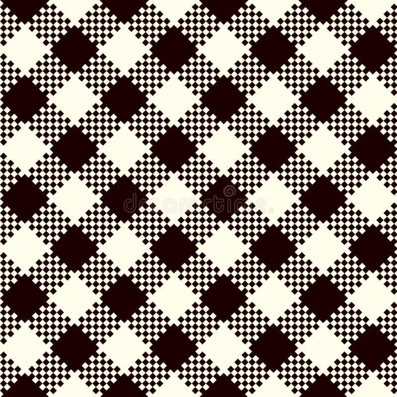 Compruebe los modelos de la tela escocesa ilustración del vector