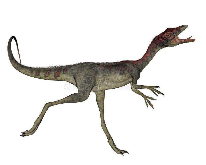 Compsognathus恐龙赛跑- 3D回报 向量例证