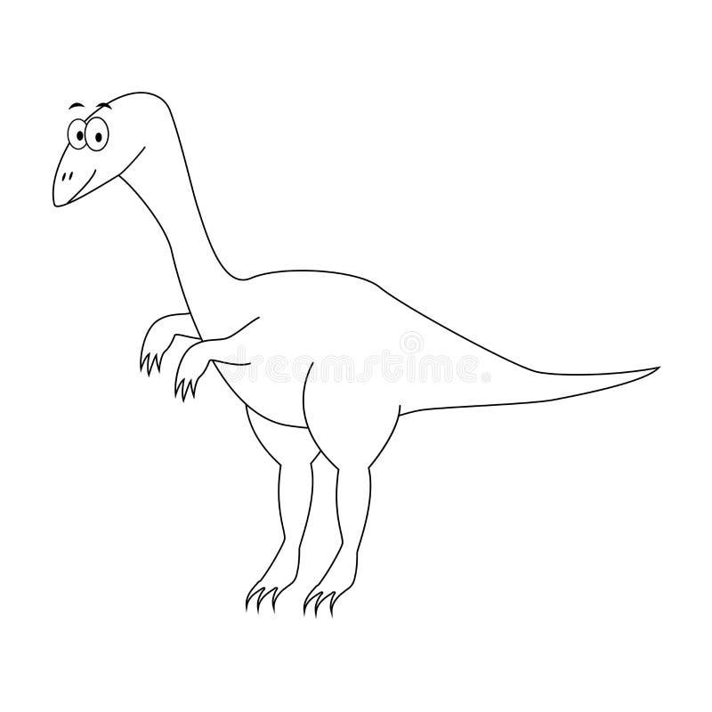 Compsognathus divertente incolore del fumetto Illustrazione di vettore colonna royalty illustrazione gratis