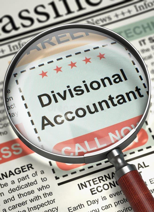 Comptable divisionnaire Job Vacancy 3d illustration de vecteur