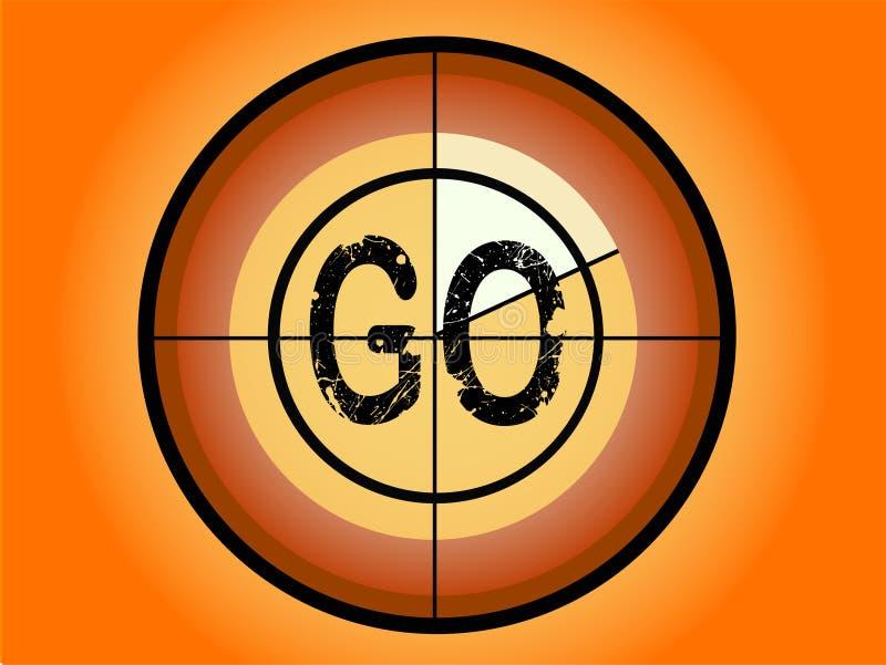 Compte à rebours de cercle - allez illustration de vecteur