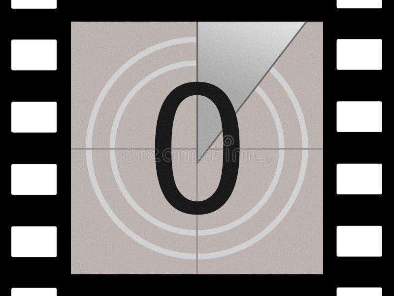 Compte à rebours de film illustration libre de droits