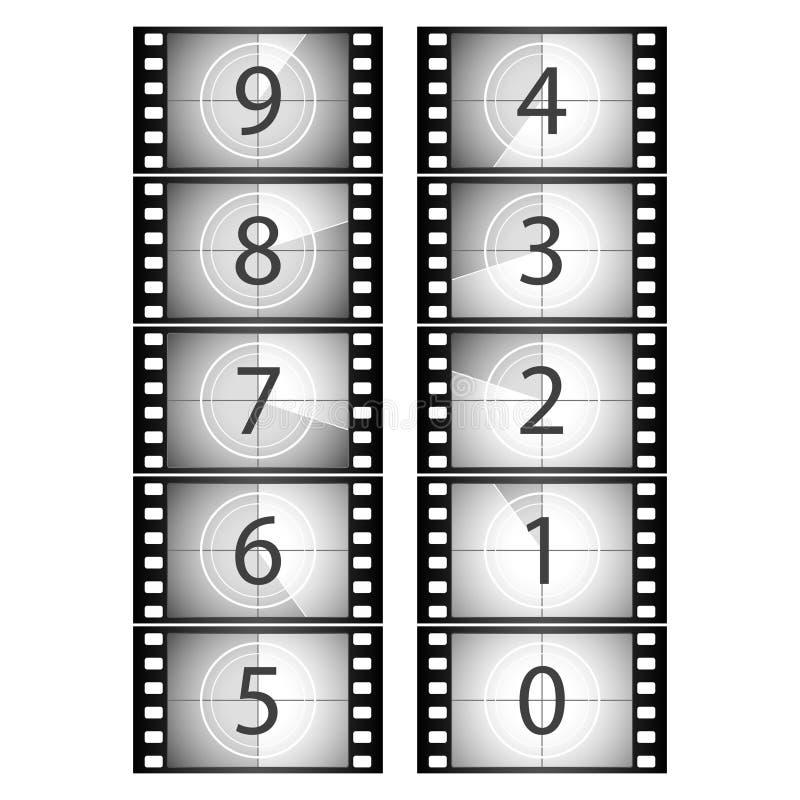 Compte à rebours de film. Vecteur. illustration libre de droits