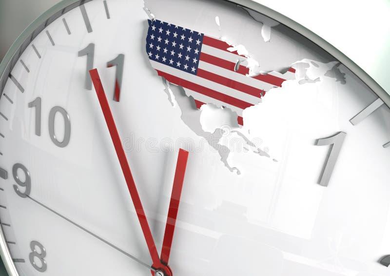 Compte à rebours de l'Amérique illustration de vecteur