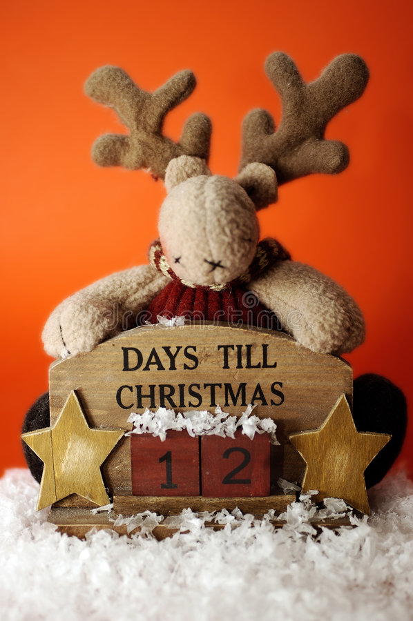 Compte à rebours II. de Noël photos libres de droits