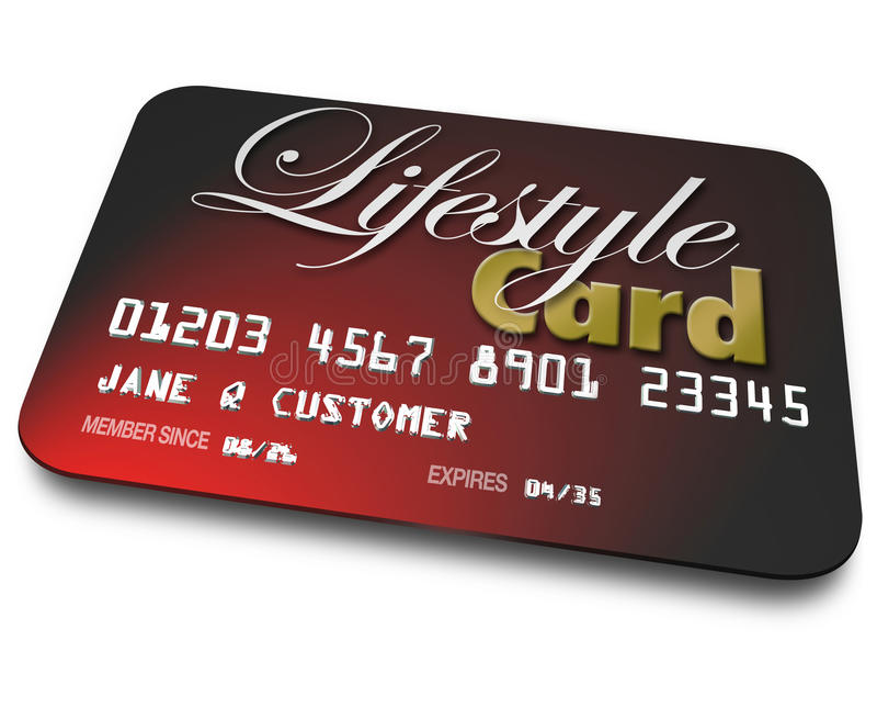Compte créditeur de carte de mode de vie empruntant des achats de paiement d'argent illustration de vecteur