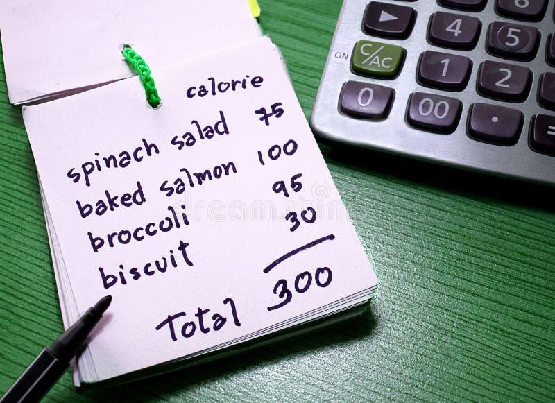 Compte de calorie photographie stock