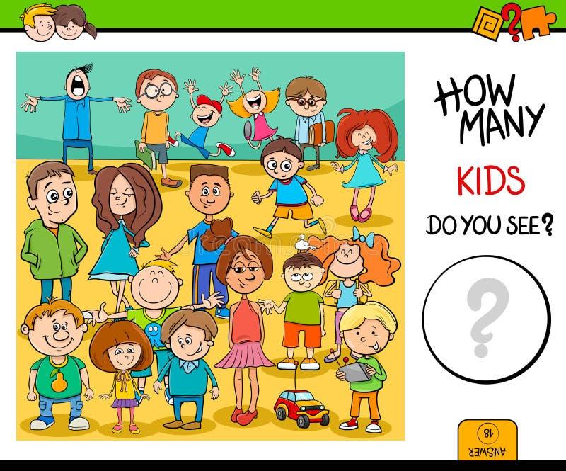 Compte de l'activité éducative de caractères d'enfants illustration libre de droits