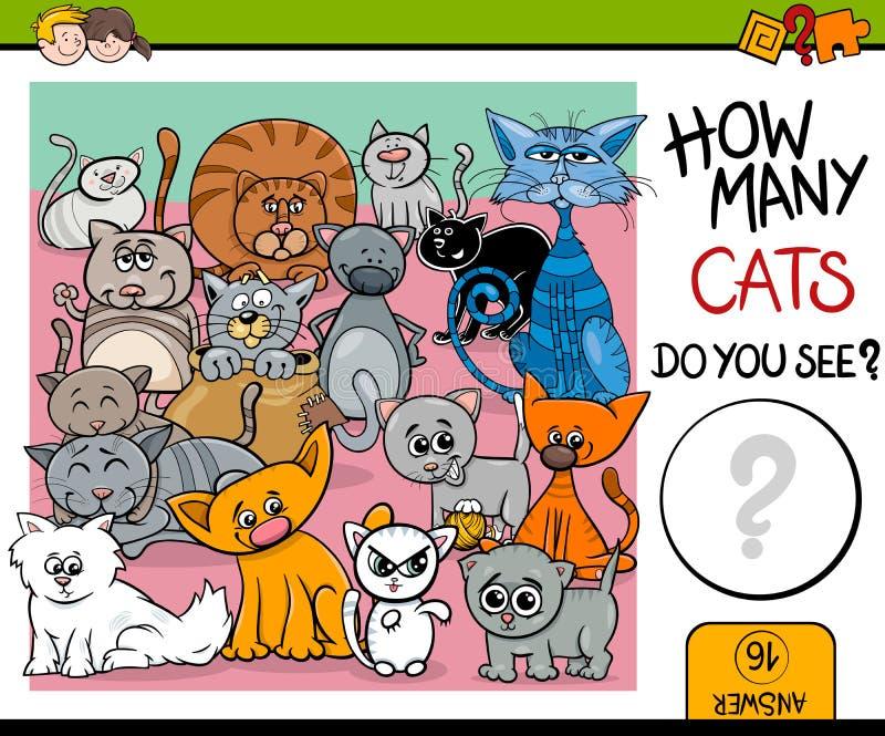 Compte de la tâche de chats pour des enfants illustration stock