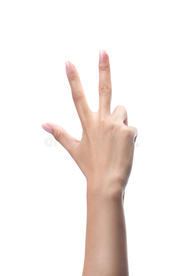 Compte des mains de femme, numéro 3 image libre de droits