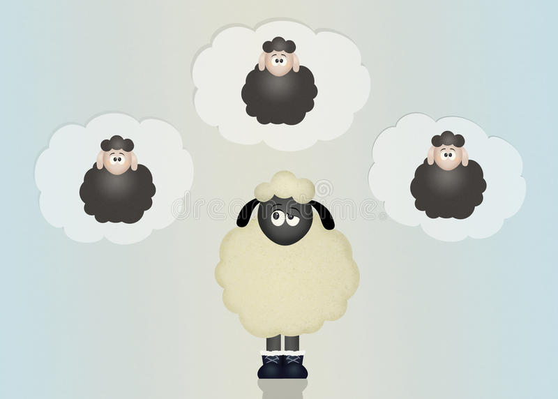 Compte des moutons illustration stock