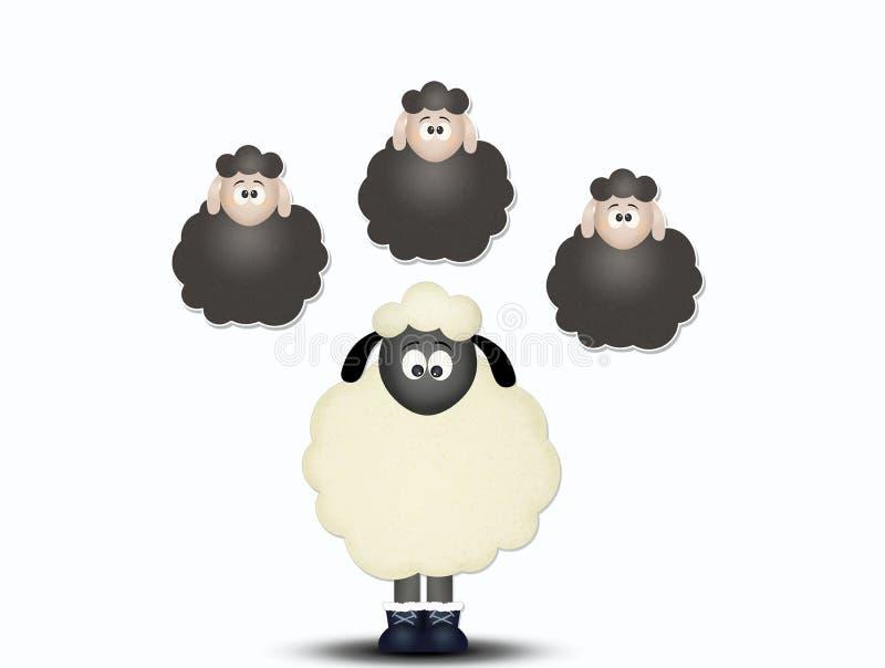 Compte des moutons pour dormir illustration libre de droits