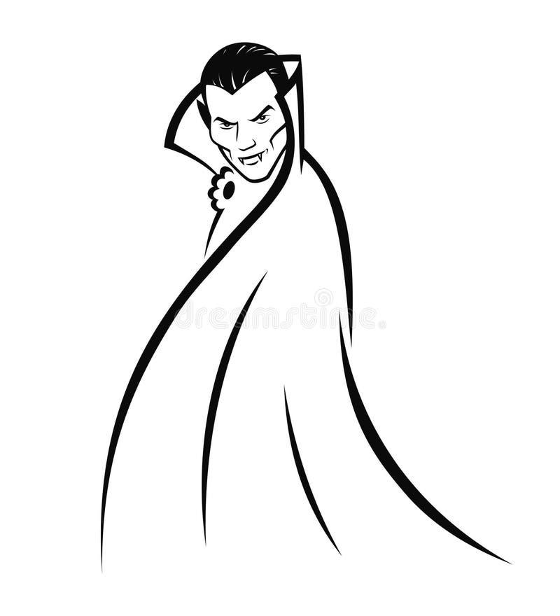 Compte Dracula illustration libre de droits