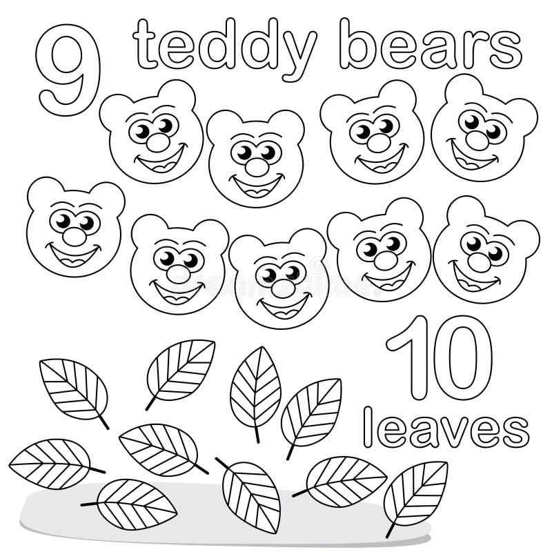 Compte du jeu avec le numéro 9 et 10 illustration de vecteur