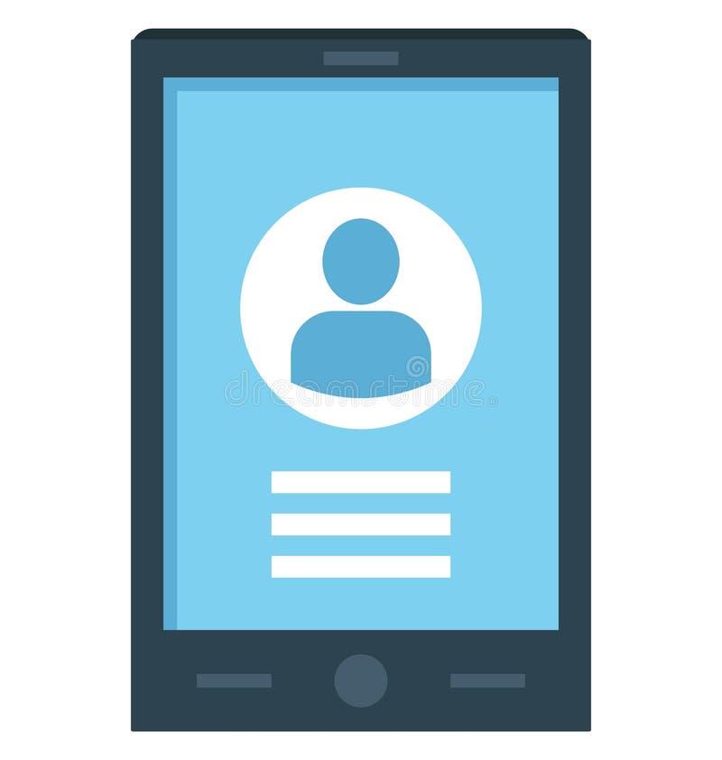 Compte mobile, ouverture mobile, icônes de vecteur d'icône qui peuvent être facilement modifiées ou éditées illustration stock