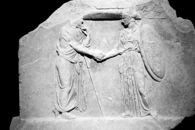 Comptes des trésoriers de la déesse Athéna et l'autre G images libres de droits
