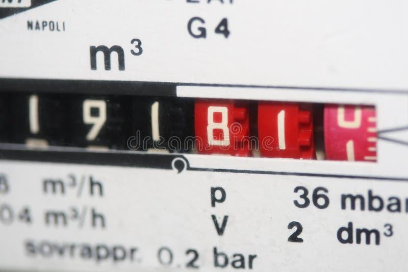 Compteur à gaz métrique photos stock