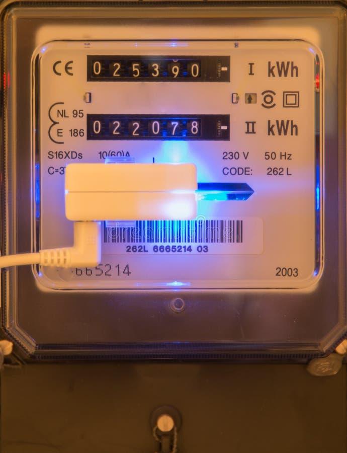 Compteur d'électricité de l'électricité image libre de droits