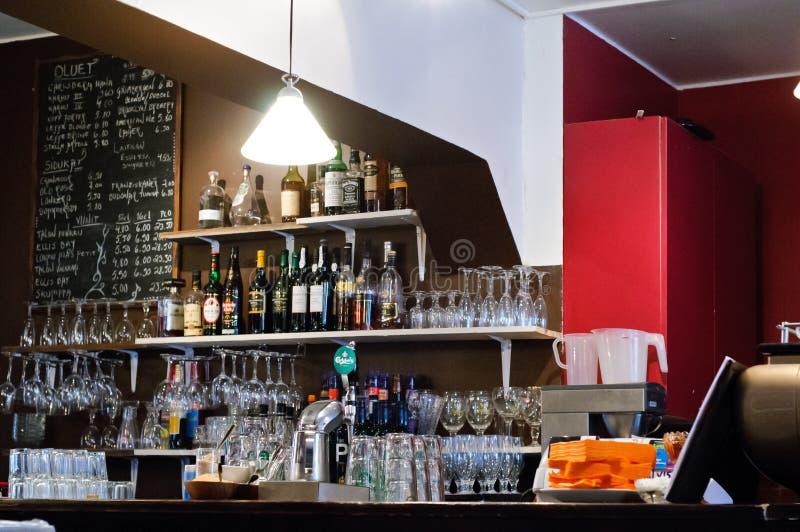 Compteur de café-restaurant image libre de droits