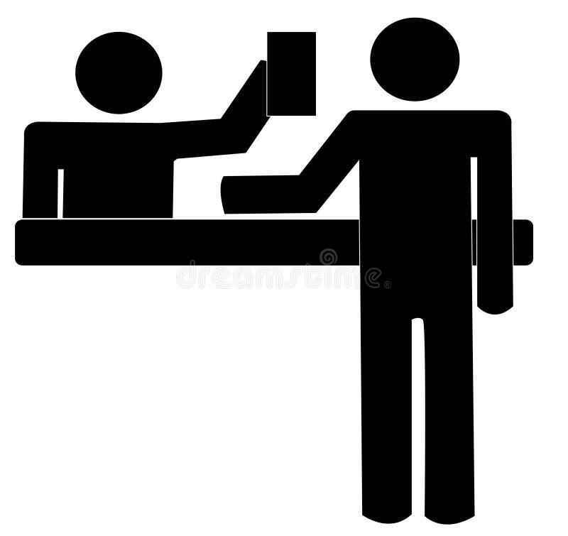 Compteur de service à la clientèle illustration stock