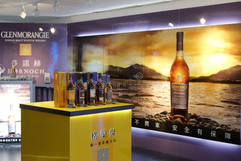 Compteur de whiskey de Granger dans la boutique de Taïpeh image stock